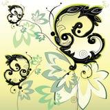Farfalle nere decorative illustrazione di stock