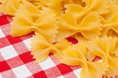 Farfalle pasta Stock Images