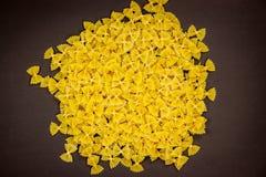 Farfalle pasta Arkivbild