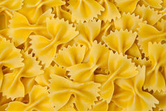 Farfalle pasta background Stock Photos