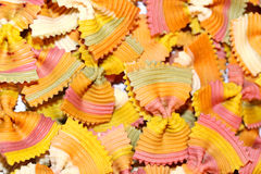 Farfalle pasta background Stock Images