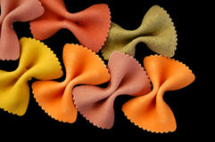 Farfalle pasta background Royalty Free Stock Photos