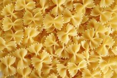Farfalle pasta background Royalty Free Stock Photos