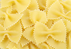 Farfalle pasta for backgrounds Stock Image