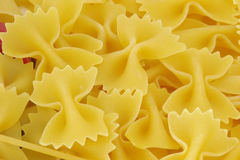 Farfalle pasta close. Raw farfalle pasta close up Royalty Free Stock Photography