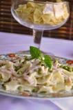 Farfalle pasta dish Stock Image