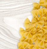 Farfalle pasta dry Royalty Free Stock Photography