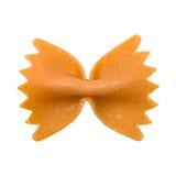 Farfalle pasta isolated. Stock Photo