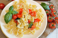 Farfalle pasta Royalty Free Stock Images