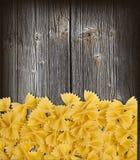 Farfalle pasta macro Stock Photo