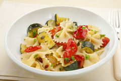 Farfalle Pasta with Roast Vegetables royalty free stock image