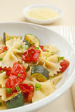 Farfalle Pasta with Roast Vegetables Royalty Free Stock Photography