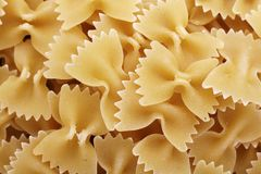 Farfalle pasta shapes royalty free stock image