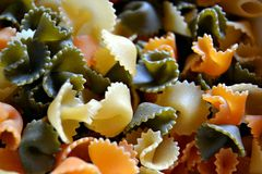 Farfalle Pastas Royaltyfria Bilder