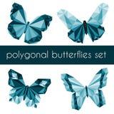 Farfalle poligonali Fotografie Stock Libere da Diritti