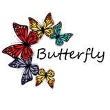 Farfalle poligonali Immagine Stock Libera da Diritti