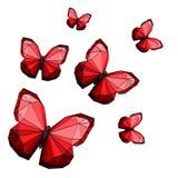 Farfalle poligonali Immagini Stock Libere da Diritti
