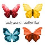 Farfalle poligonali Immagini Stock