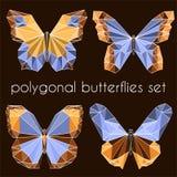 Farfalle poligonali Fotografia Stock Libera da Diritti