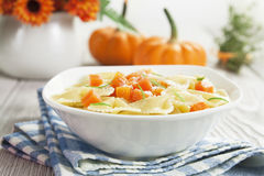 Farfalle with pumpkin and parmesan Royalty Free Stock Photos