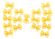 Farfalle sin procesar Foto de archivo