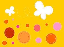 Farfalle su priorità bassa arancione Immagine Stock