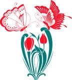 Farfalle su un fiore Fotografie Stock