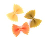 Farfalle three colors Stock Images