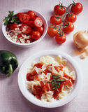 Farfalle tomato Stock Photography