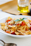 Farfalle with tomato sauce Stock Image