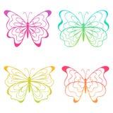 Farfalle variopinte. Fotografia Stock