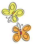 Farfalle variopinte Immagine Stock Libera da Diritti