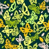 Farfalle variopinte nello stile d'annata Fotografia Stock Libera da Diritti