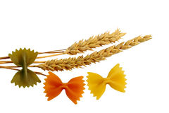 Farfalle and Wheat Stock Photo