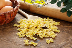 Farfallette - Italian raw pasta Royalty Free Stock Photo