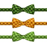 Farfallino Bowtie Set Isolated di vettore su bianco Fotografie Stock