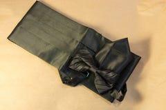 Farfallino nero con un telaio e un fazzoletto Fotografia Stock Libera da Diritti