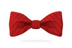 Farfallino rosso con la stampa in bande diagonali Fotografia Stock Libera da Diritti