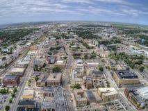 Fargo är den största staden i North Dakota på Redet River royaltyfri fotografi
