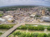 Fargo is a the largest City in North Dakota on the Red River.  stock photo