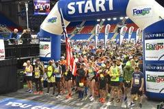 Fargo Marathoners at the starting line