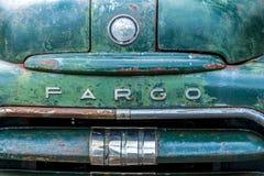 Fargo odznaki furgonetki zbliżenie Obraz Stock
