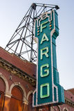 Fargo Theater Sign. In North Dakota, USA stock image