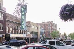 Fargo Theatre W W centrum Fargo, Północny Dakota Zdjęcia Royalty Free
