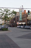 Fargo Theatre Widzieć Na Broadway, W centrum Fargo obraz stock