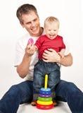 Farher und Kind Lizenzfreie Stockfotografie