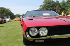 Fari classici del gemello dell'automobile sportiva Immagini Stock Libere da Diritti