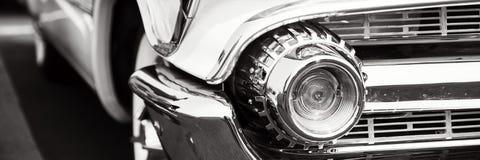 Fari classici dell'automobile fotografie stock libere da diritti