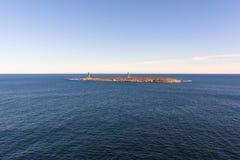 Fari dell'isola di Thacher, capo Ann, Massachusetts fotografia stock libera da diritti