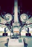 Fari di atterraggio sull'ingranaggio Immagine Stock Libera da Diritti